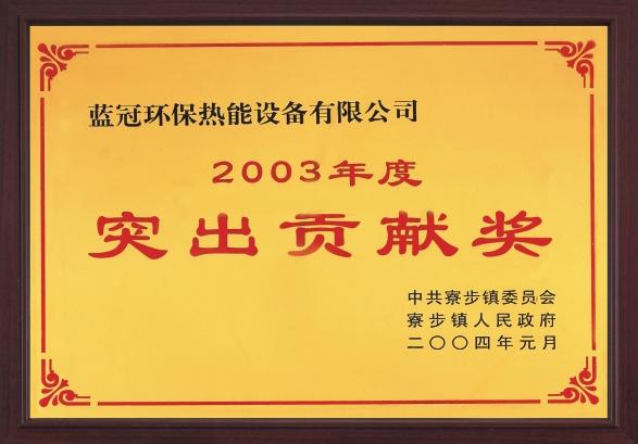 2003年荣获突出贡